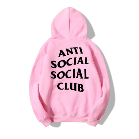 Selling Anti Social Club Hoodie Men's Cotton Fleece Sports Hoodie
