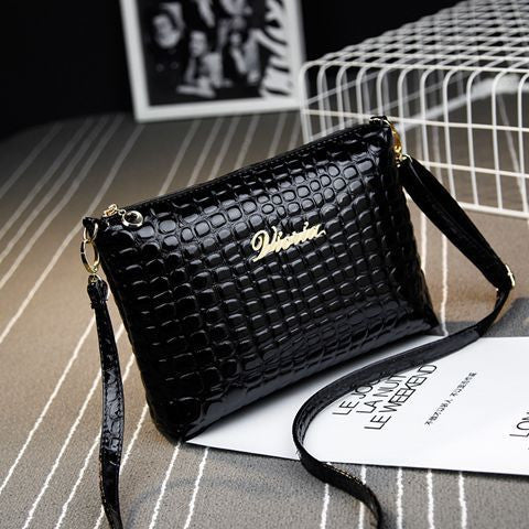 Black plaid clutch Fashion Women CrossBody Bag Purse shoulder Bags Crocodile Simple Small handbag Women Messenger Bags NOTE* Please allow 2-3 weeks for Delivery - kdb solution