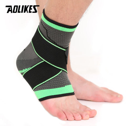 AOLIKES 1PCS 3D Weaving Elastic Nylon Ankle Support Brace Yoga Badminton Basketball Football Taekwondo Fitness Heel Protector - kdb solution