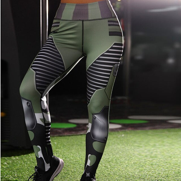 Push Up Camouflage Fitness Leggings Women High Waist Plus Size - kdb solution