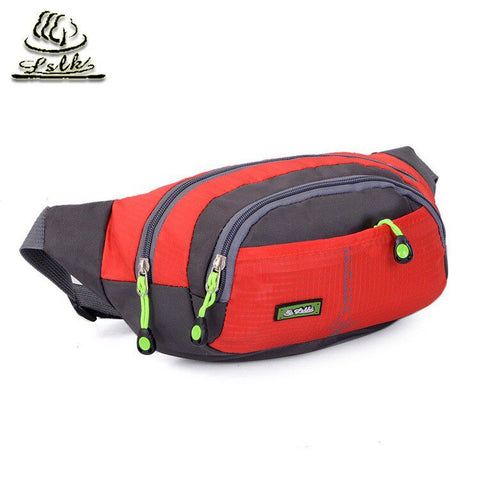 Men Women Outdoor Running  Hip Fanny Travel Pack Zip Mobile Phone Bag Casual waste Bag - kdb solution