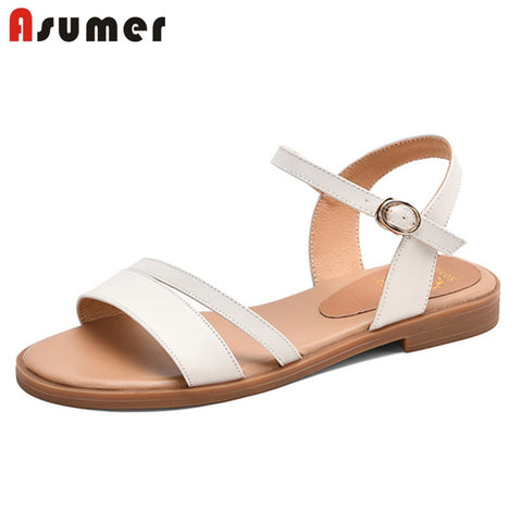 Women's genuine leather casual sandals - kdb solution
