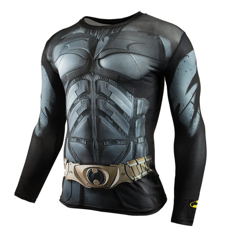 Men Crossfit Long Sleeve Compression Shirt 3D Anime Superhero Superman Captain America T Shirt Tights Fitness Men Tops & Tees Note* Please allow 2-3 weeks for Delivery - kdb solution