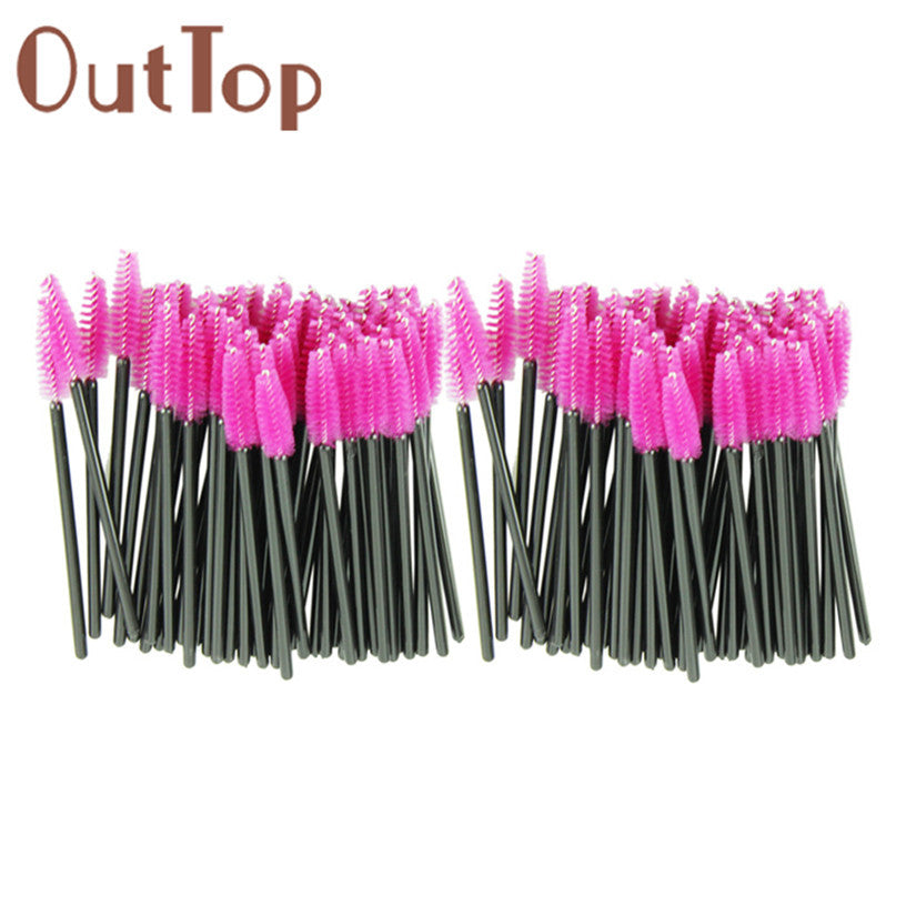 New 100pcs/lot make up brush Pink synthetic fiber One-Off Disposable Eyelash Brush Mascara Applicator Wand Brush best NOTE* Please allow 2-3 weeks for Delivery - kdb solution