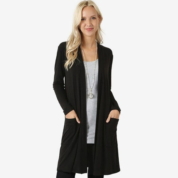 Autumn Cardigans Single Breasted Puff Hooded Coat Plus Sizes