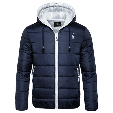 Men's waterproof hooded winter jacket