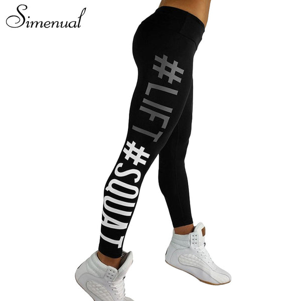 Women leggings fitness letter print athleisure slim legging - kdb solution