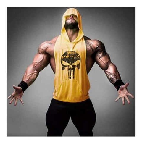 2017 Mens bodybuilding summer tank top muscle tank tops bodybuilding vest skull summer hoodie vest sportwear tank for man Note* Please allow 2-3 weeks for Delivery - kdb solution