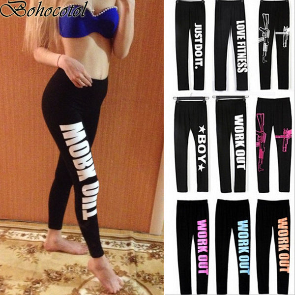 2017 New Workout Low Waist Leggings Elastic Stretch Slim fitness legging Pants Yo-ga Fitness Trousers Leggins - kdb solution