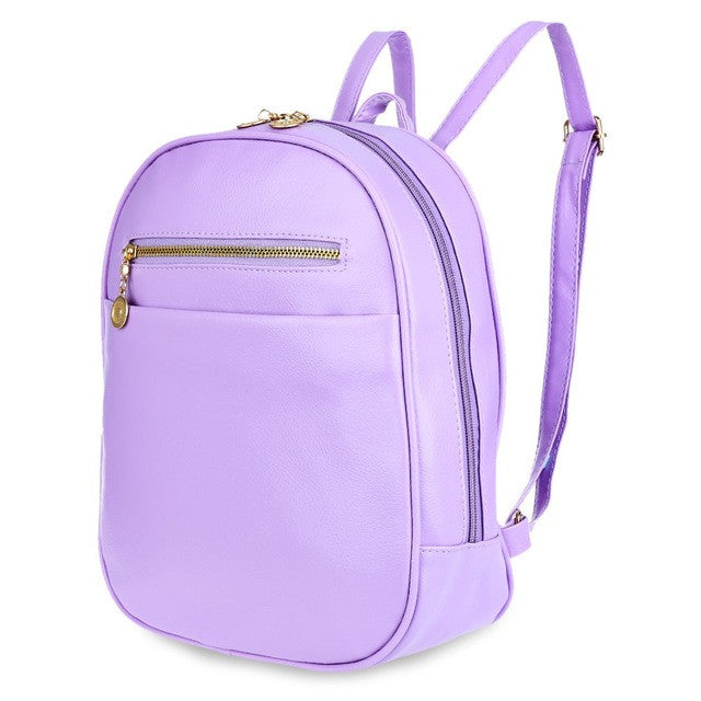 Candy Color Women BackPack Purple Blue White Red Black Green - kdb solution