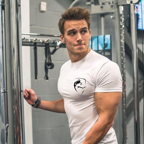 2017 New Men's Cotton Bodybuilding Gyms T-Shirt - kdb solution