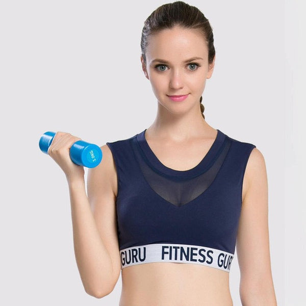 Professional Women Ladies Sport Bra Fast Drying Absorb Sweat Sport Shockproof Padded Stretch Top - kdb solution