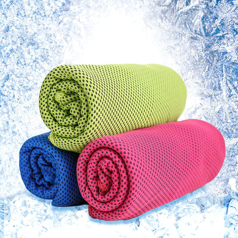 30*100cm Sport Cooling Ice Towel Ice Cold Polyamide Fiber Microfiber Hypothermia Towels - kdb solution