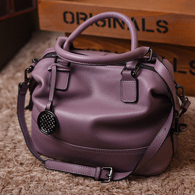 Women's Genuine Leather Messenger/Crossbody Bags Cow leather Red Black Grey Purple - kdb solution