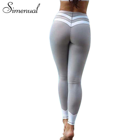 Simenual Striped splice fitness legging sportswear - kdb solution