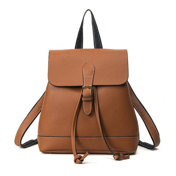 Leather Teenagers Girls Backpacks 4 Colours - kdb solution