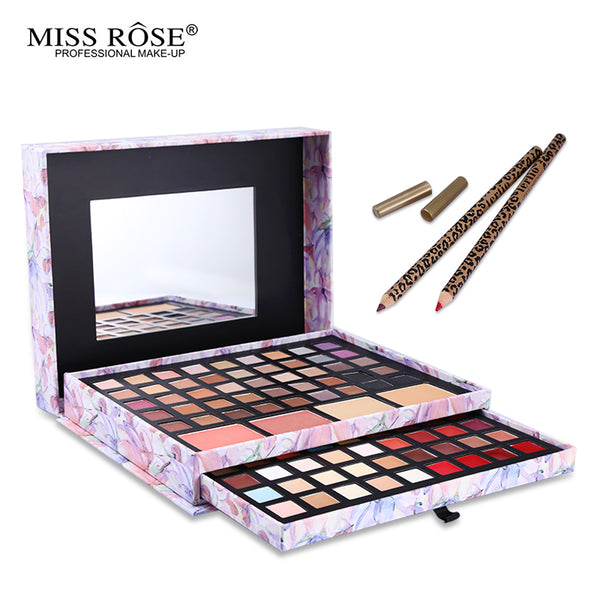 Miss Rose Professional 87 Color Makeup Cosmetic Set Gift Eyeshadow Lipstick Concealer Blush Mirror Kits Multifunctional  Make Up - kdb solution