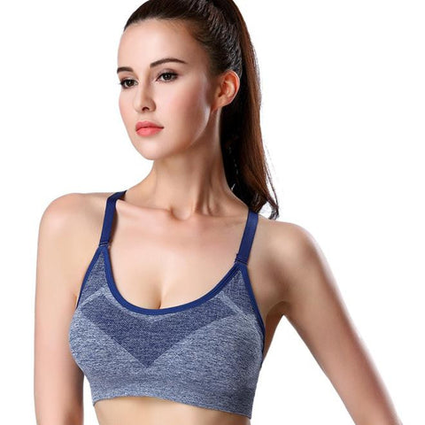 Women Sport Bra Running Gym Yoga Fitness Padded Tank Stretch Workout BU L - kdb solution
