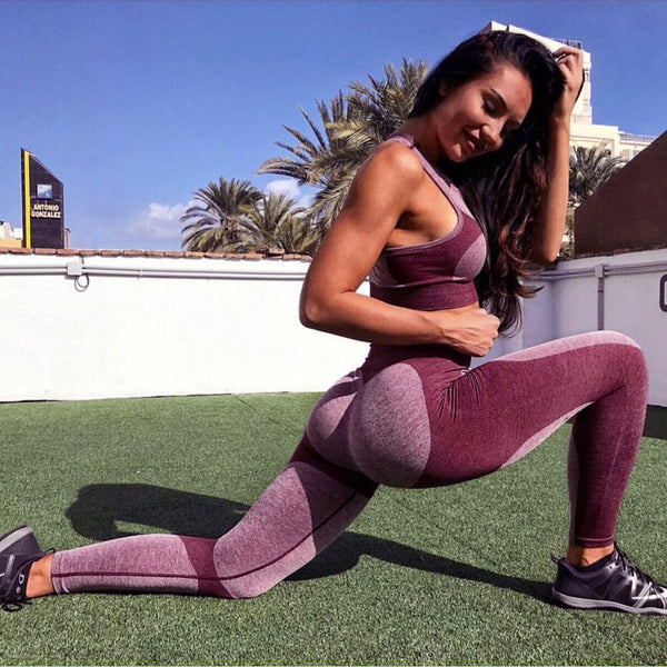 Womens Workout Leggings Sports Yoga Gym Fitness Pants Athletic Clothes