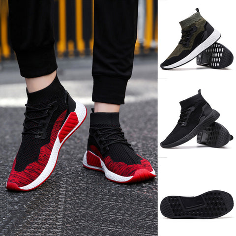 Men High Top Soft Sole Running Shoes Gym Shoes