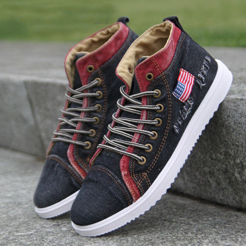 Mens Summer Style Fashion Canvas Shoe Breathable Sneakers