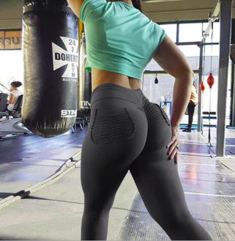 Women Fitness Push Up Leggings High Waist Elastic Workout Legging with side pocket