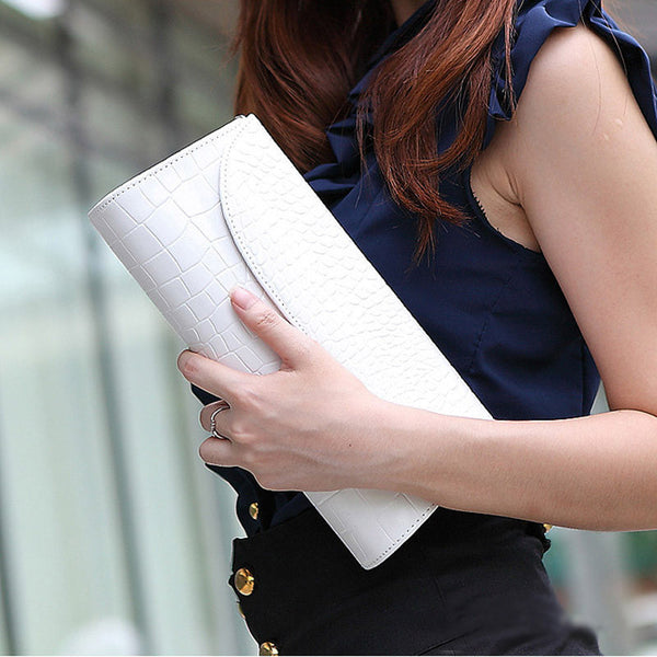 Famous Brand Clutch Shoulder Bag Crocodile Leather Evening Bag Chain Handbags Crossbody Bag Wedding Messenger Bags Purse NOTE* Please allow 2-3 weeks for Delivery - kdb solution