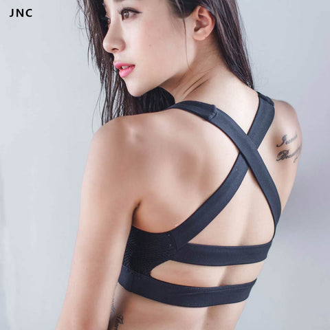 JNC Collection Glamour Girl Sports Bra Wide Elastic Straps Yoga Gym Top Bra Removable Padding Workout Bra For Women Activewear Note* Please allow 2-3 weeks for Delivery - kdb solution