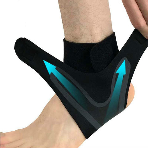 1 PCS Ankle Support Brace,Elasticity Free Adjustable Protection Foot Bandage,Sprain Prevention - kdb solution