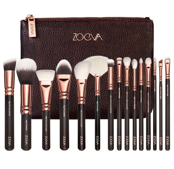 NEW ZOEVA 15 PCS ROSE GOLDEN COMPLETE MAKEUP BRUSH SET Professional Luxury Set Make Up Tools Kit Powder Blending brushes NOTE* Please allow 2-3 weeks for Delivery - kdb solution