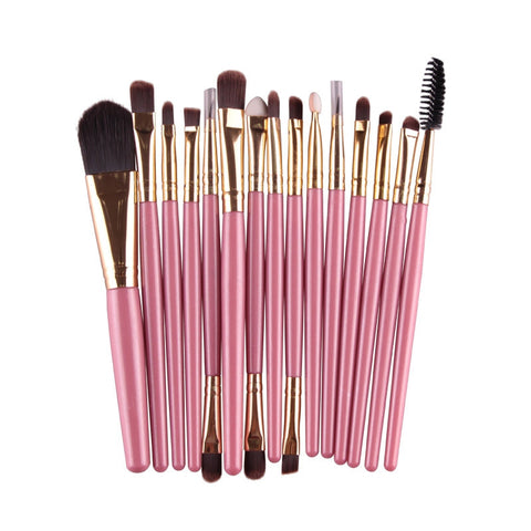 15 Pcs Professional Cosmetic Makeup Brush Women Foundation Eyeshadow Eyeliner Lip Brand Make Up Eye Brushes Set 4 Colors A8 NOTE* Please allow 2-3 weeks for Delivery - kdb solution