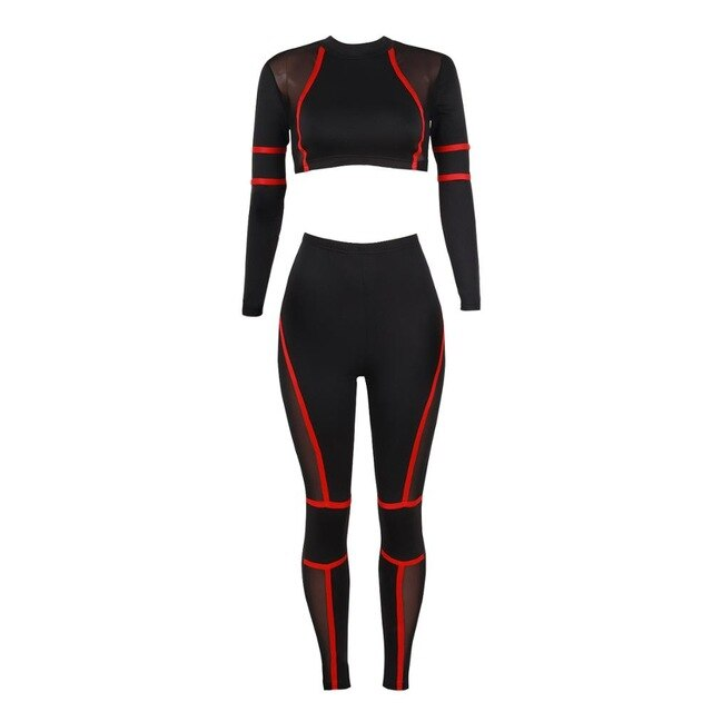 Yoga 2 piece Set Seamless Gym Fitness Long Sleeve Clothing + Running high waist Leggings - kdb solution