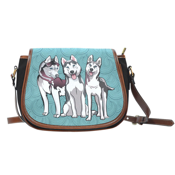"""My Three Huskies"" Saddle Bag"