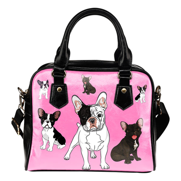 Baby Blue French Bulldog Shoulder Bag