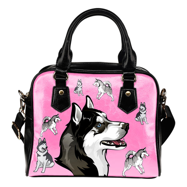 Playful Husky Shoulder Bag