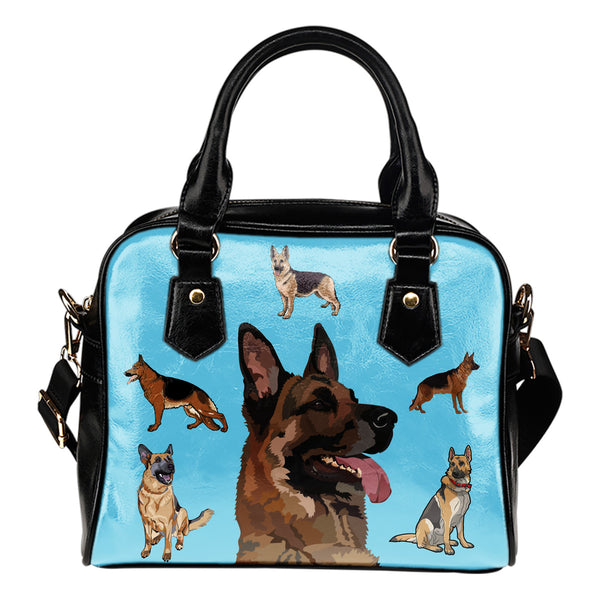 Watercolor Print German Shepherd Shoulder Bag 2