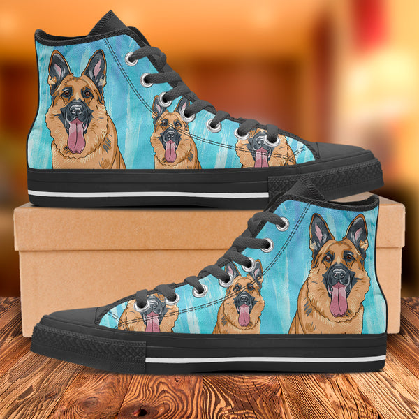 Men's Loyal German Shepherd High Top Shoes