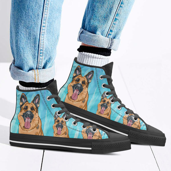 Women's Loyal German Shepherd High Tops