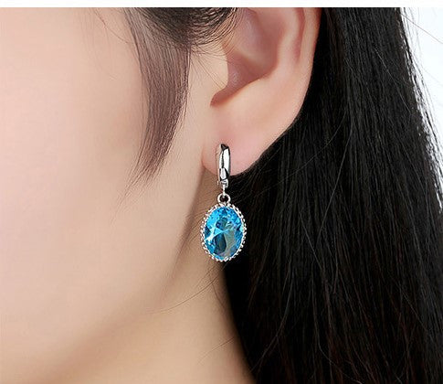 Stone Drop Ear Rings