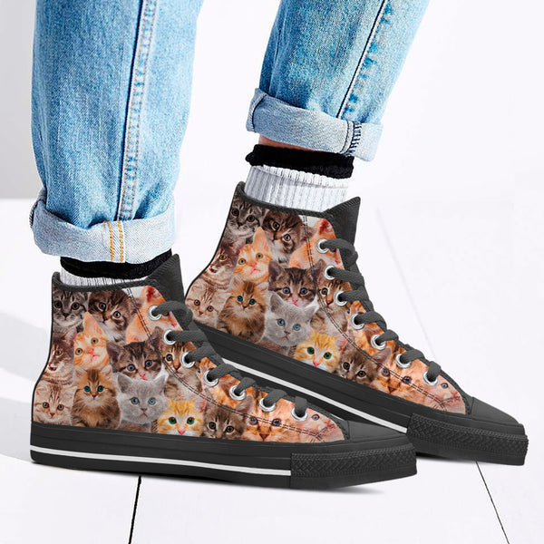 "Women's ""Cool Cats"" High Top Shoes"
