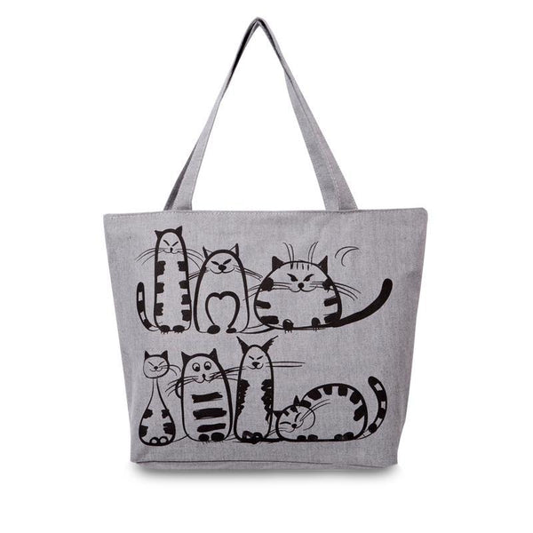 My Feline Friends Canvas Tote Bag
