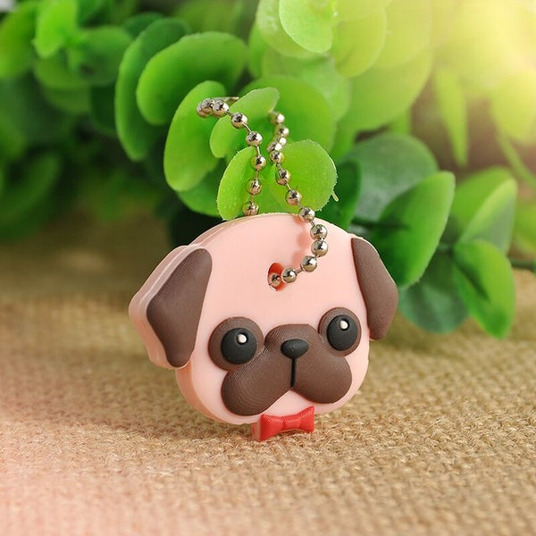 Animals Ring Cap Head Cover Keychain