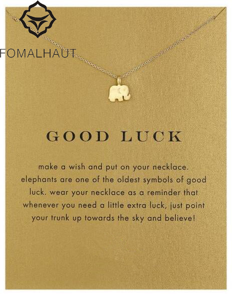 Good Luck Elephant Charm Necklace