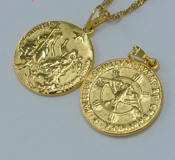 Holy Spirit Necklace Pendant Gold