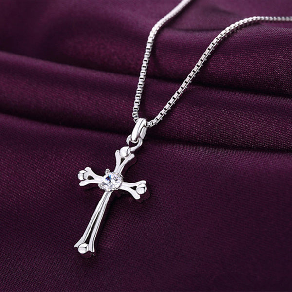Shiny Crystal Cross Pendant