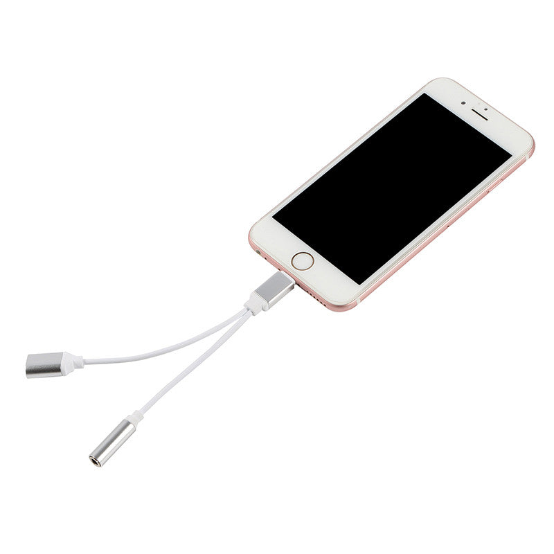 Dual Lightning To 3.5 Mm Headphone Jack Adapter With Charging For IPhone 7  U0026 7 Plus