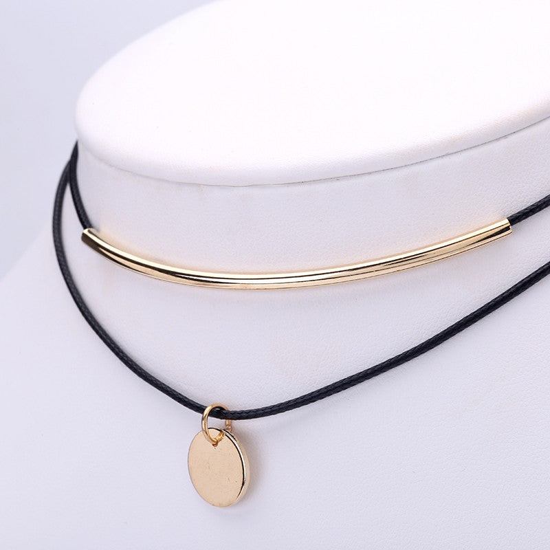 delicate pendant product necklac necklace jewelry original charm coin dainty disc gold