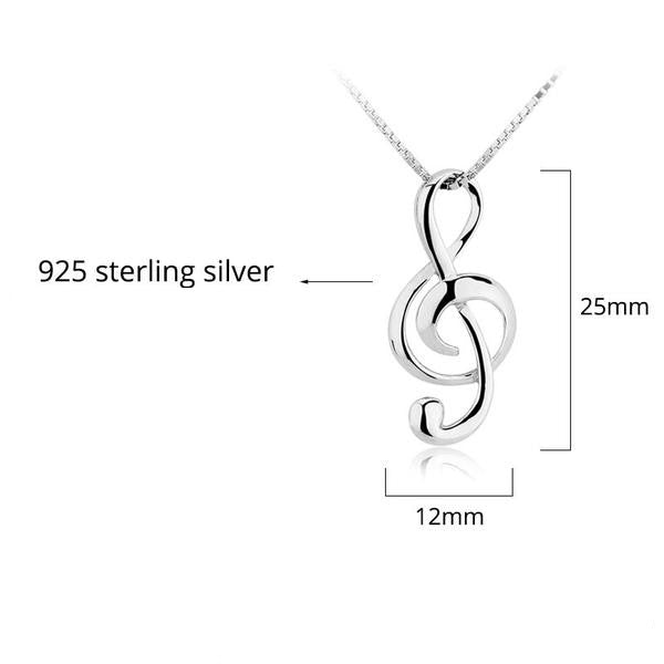 Gold plated metal chain necklace bar circle long strip sterling silver musical note pendant necklace high quality 925 silver necklace 40 off mozeypictures Image collections