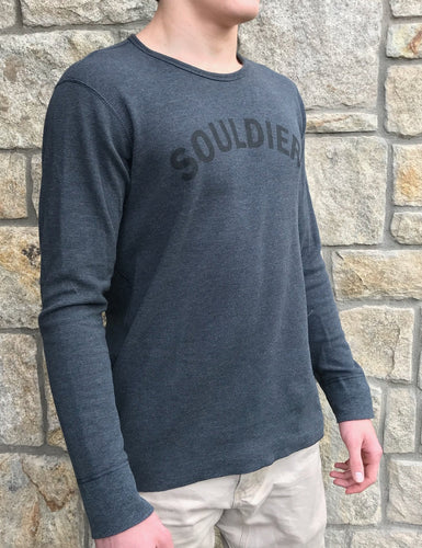Souldier - Long Sleeves - Charcoal/Black- Unisex