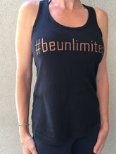 #beunlimited - Tank Top - Black/Rose Gold